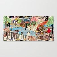 Urban Sightings Collage Canvas Print