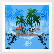 Tropical design Art Print