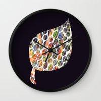 Leafy Palette Wall Clock