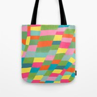 colorful patchwork 3 Tote Bag
