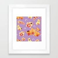 Orchids & Ladybirds Framed Art Print
