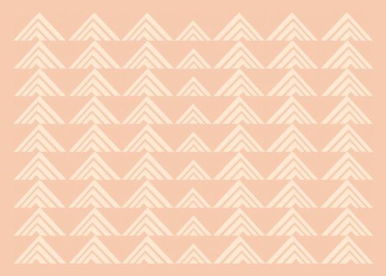 Tan Triangles Print Canvas Print