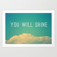 Baby, you will shine! Art Print