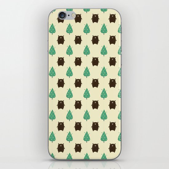 Bears and Trees iPhone & iPod Skin