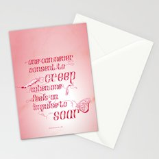 Be who you are... - pink Stationery Cards
