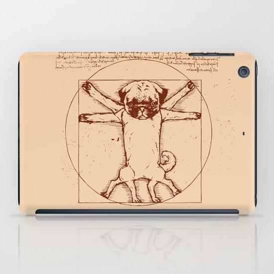 Vitruvian pug iPad Case