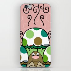 Cute Monster With Green And Brown Polkadot Cupcakes iPhone & iPod Skin