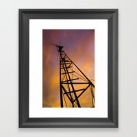 The Old Radio Tower At S… Framed Art Print