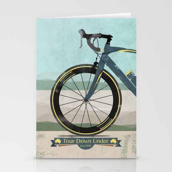 Tour Down Under Bike Race Stationery Card