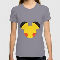 Electric Mouse  Womens Fitted Tee Slate SMALL
