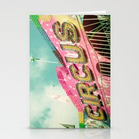 circus Stationery Cards featuring Circus by Cassia Beck