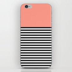 STRIPE COLORBLOCK {CORAL} iPhone & iPod Skin