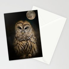 Barred Owl and the Moon Stationery Cards