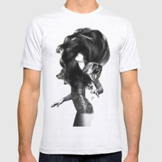 Bear #3 Mens Fitted Tee Ash Grey SMALL