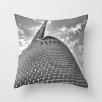 Swan Bell Tower Throw Pillow