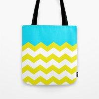Bright Zig-Zag Tote Bag