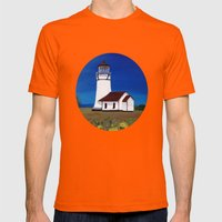 Cape Blanco lighthouse/ Oregon Mens Fitted Tee Orange SMALL