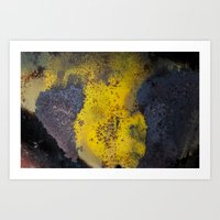 Abstract  Metallic Art Print