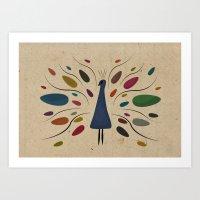 my sweet peacock Art Print