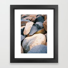 Rock pile from NSW/ACT border, Australian countryside Framed Art Print