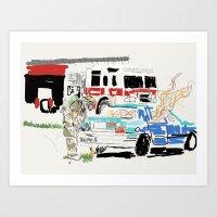 Firetruck Art Print