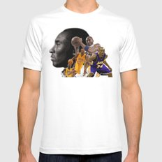 The Black Mamba Mens Fitted Tee White SMALL