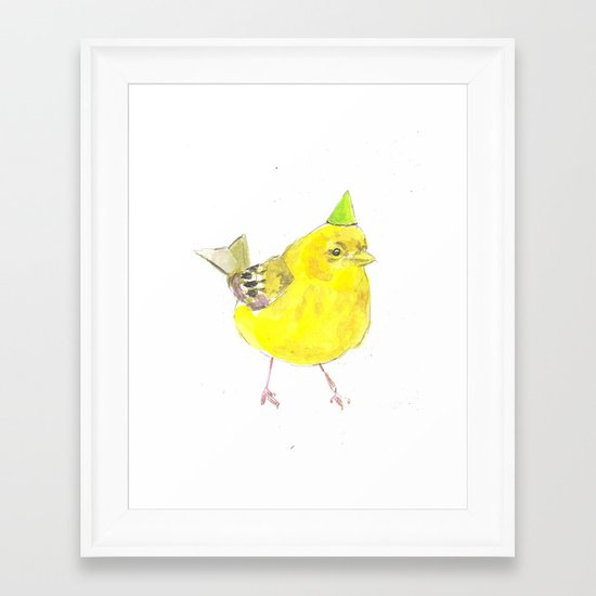 Birthday Bird Framed Art Print