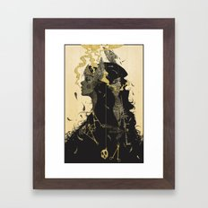 No Love Framed Art Print