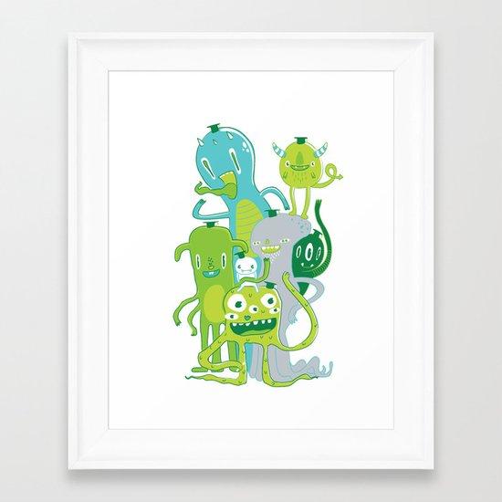 Done with Monster School! Framed Art Print