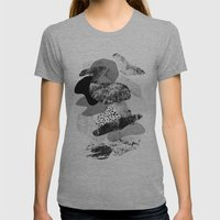 Rock Balancing Womens Fitted Tee Athletic Grey SMALL