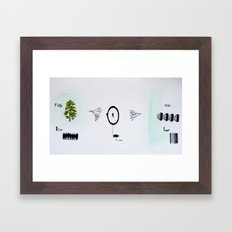 true/false Framed Art Print