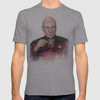 Captain Picard Earl Grey… Mens Fitted Tee Athletic Grey SMALL