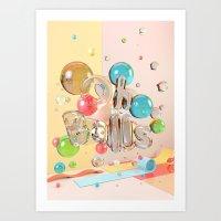 Oh Balls - Ch Typography… Art Print