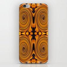 Orange fruit twirl iPhone & iPod Skin