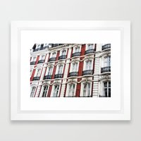 London Red  Framed Art Print