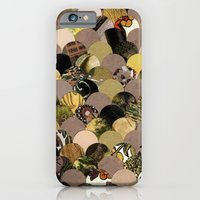 iPhone & iPod Case featuring Autumn Scalloped Pattern by Elephant Trunk Studio