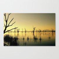 The Golden Lake Canvas Print