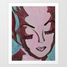 Mug Shot Mauve/Lare and Penates Series  Art Print