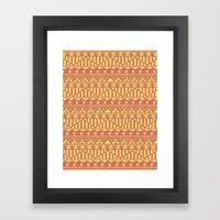 Aztec duo color pattern Framed Art Print