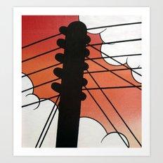 Cloud Pole Art Print