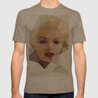 Monroe. Mens Fitted Tee Tri-Coffee SMALL