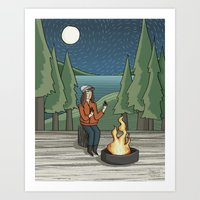 Campfire Girl II Art Print