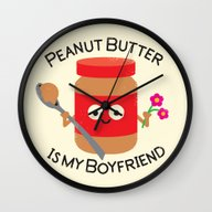 Wall Clock featuring Don't Be Jelly by David Olenick