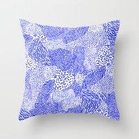 Blue Sand Throw Pillow