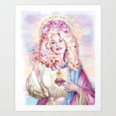Saint Dolly Parton  Art Print
