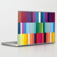 stripes Laptop & iPad Skins featuring Stripes by Kakel