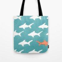 Splashy Sharks Tote Bag