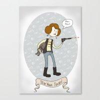 Star Wars fan-girl Canvas Print