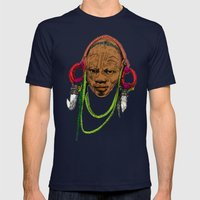 AFRICA Mens Fitted Tee Navy SMALL