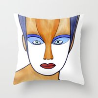 Aza (previous age) Throw Pillow